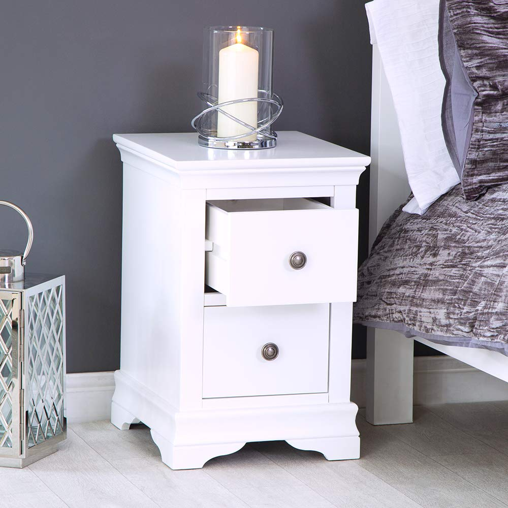 The Furniture Outlet Banbury White Painted Large Bedside Table