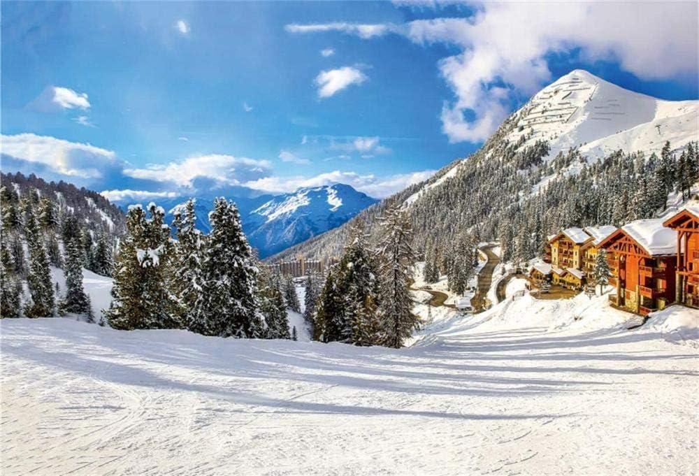 Hd Winter Mountain Landscape Backdrop Snow Ski Resort Amazon Co Uk Camera Photo