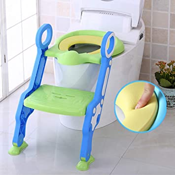Admirable Baybee Paws Potty Training Toilet Seat With Step Stool Ladder For Boy And Girl Baby Toddler Kid Machost Co Dining Chair Design Ideas Machostcouk