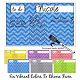 chore charts multiple - Modern Magnetix Chore Chart   Reward For Responsibility & Good Behavior   Magnetic Dry Erase Board For Kids, Toddlers, Adults & Family   Weekly & Daily Household Lists   Free Marker Included