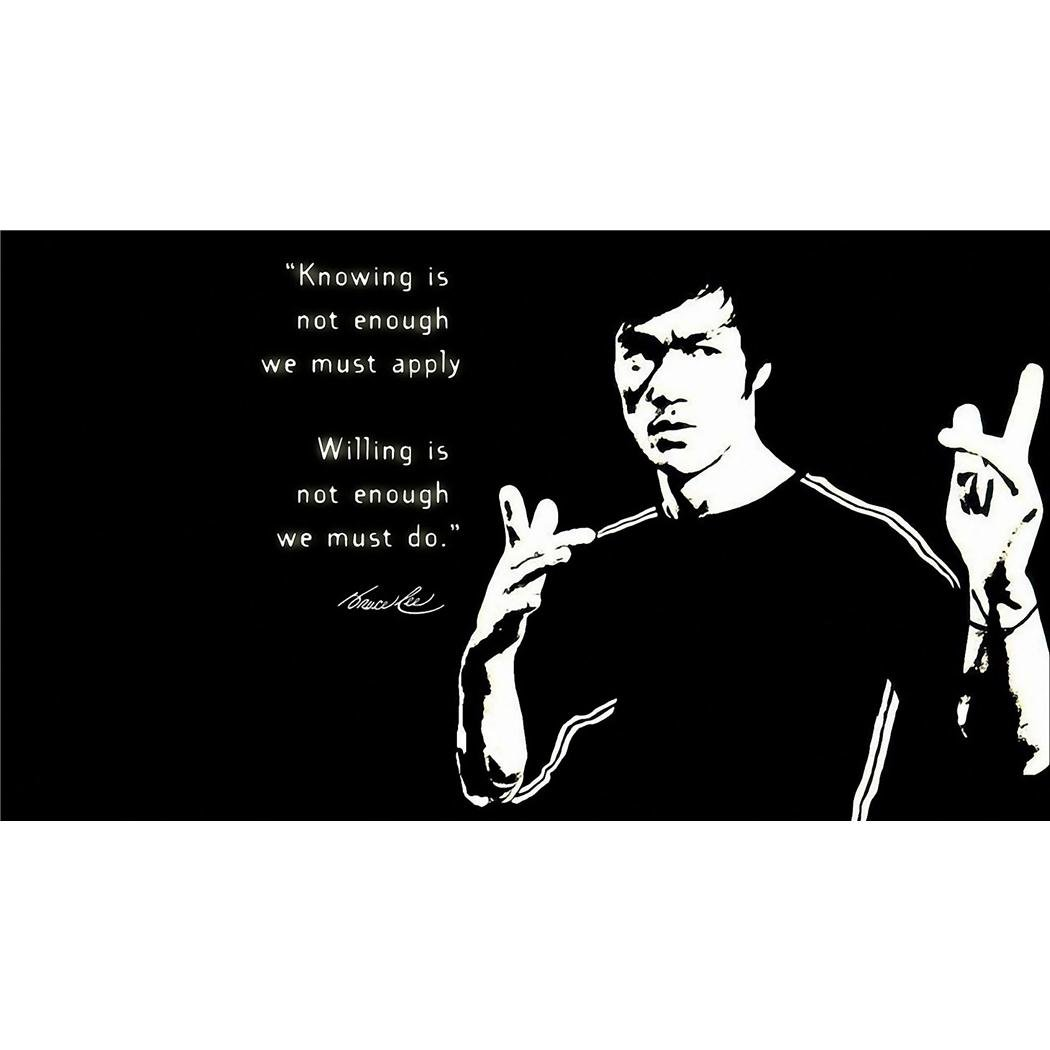 Bruce Lee Poster by Silk Printing # Size about (107cm x 60cm, 43inch x 24inch) # Unique Gift # C9808F Monty Arts