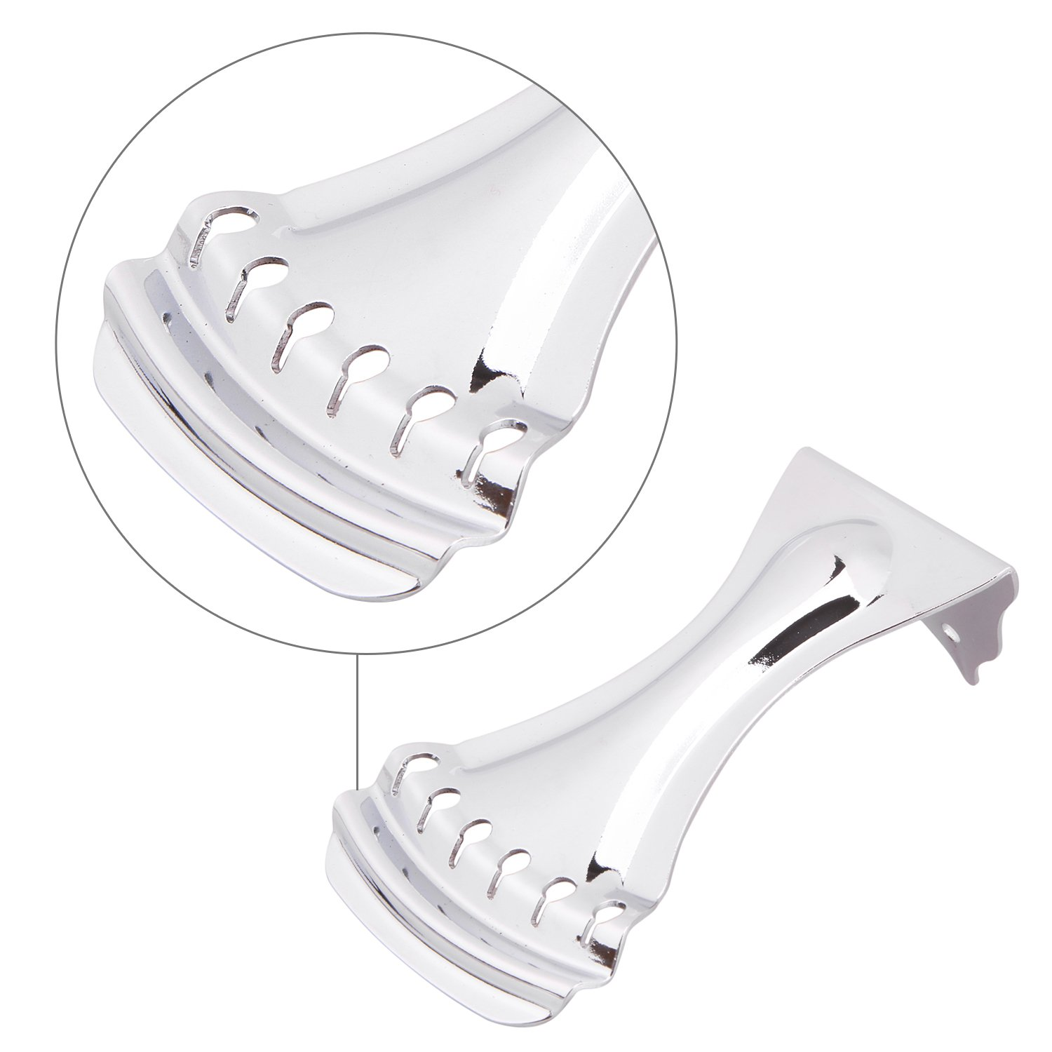 Dobro Tailpiece Chrome Zinc Alloy Tailpiece for 6 Strings Dobro Guitar by sunflower (Image #5)