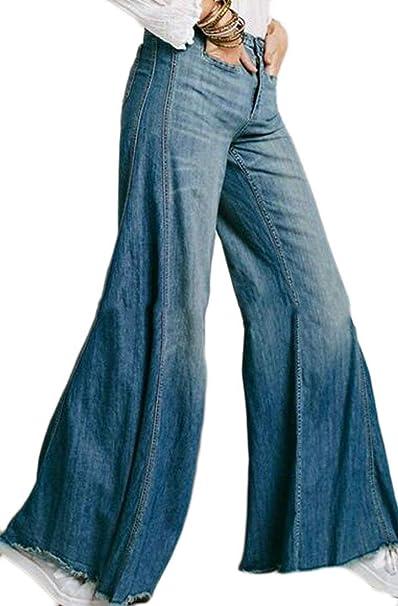 Amazon.com: Joe WENKO jwk Mujer Vintage pantalones de ...