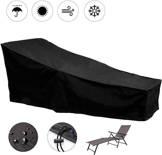 SUNDUXY Funda de Tumbonas, Cubre Impermeable al Aire Libre Patio de Lounge Silla de Jardín Exterior Cubierta Protectora de la Silla de Salón,208x76x40cm: Amazon.es: Hogar