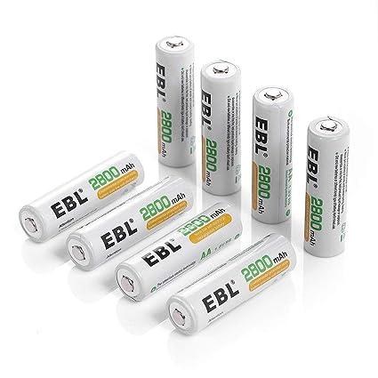 EBL AA AAA Recargable/Cargador de batería: Amazon.es ...