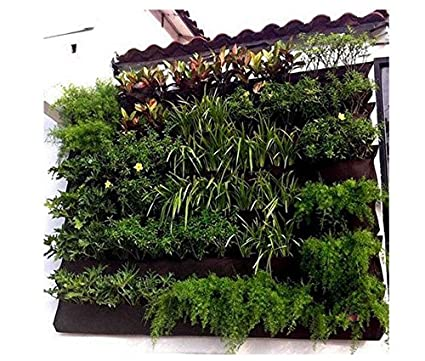 Amazon Com 12 Pockets Indoor Wall Mounted Plants Bag Hanging Plant