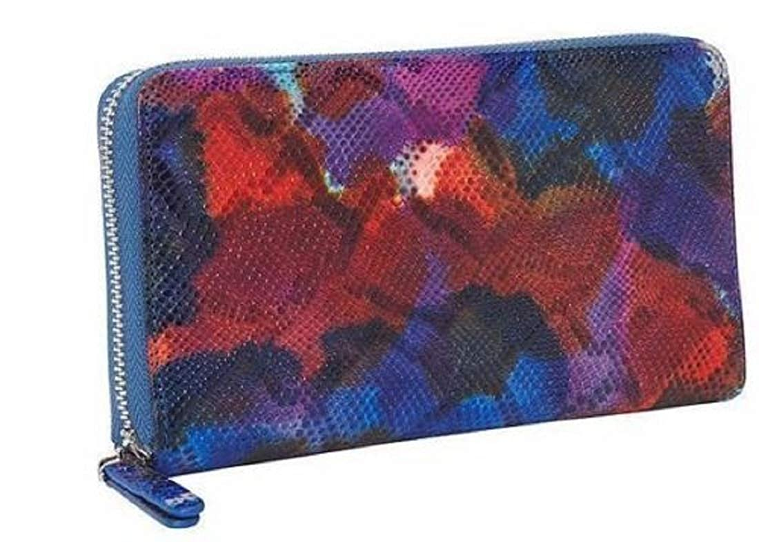 Sale Leather Tie Dye Print Clutch Zip Around Wallet Credit Card Holder Women's
