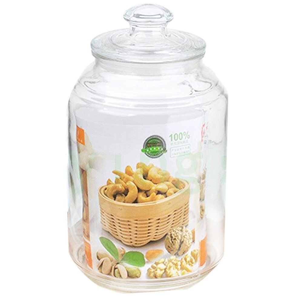 Glass Jar 2.5L / 0.7-Gallon Sealed Jar Cookie Jar with Lid Food Storage Containers