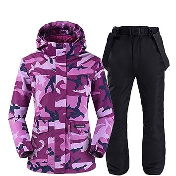 Camuflaje de dos capas Traje de nieve para mujer Ropa de snowboard ...