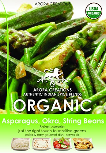 Arora Creations Organic Bhindi Masala: Green Veggie Spice Blend, 0.5-Ounce Units (Pack of 6)
