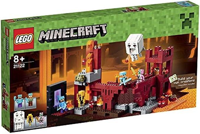 Lego Minecraft 21122 - Juego Lego, La fortaleza del infierno: LEGO: Amazon.es: Juguetes y juegos