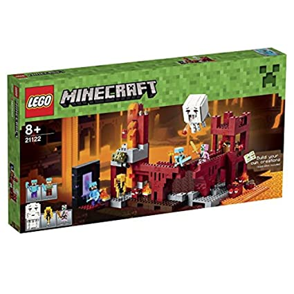 amazon com lego minecraft the nether fortress toys games