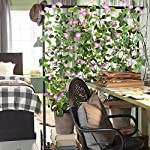 GTIDEA-Artificial-Vines-2pcs-15Feet-Morning-Glory-Hanging-Plants-Silk-Garland-Fake-Green-Plant-Home-Garden-Wall-Fence-Stairway-Outdoor-Wedding-Hanging-Baskets-Decor-Purple