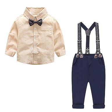 61e7729fc Baby Boys Outfit, Baby Boys Clothes Set, Tuxedo Gentleman Button Down Shirt  with Bow