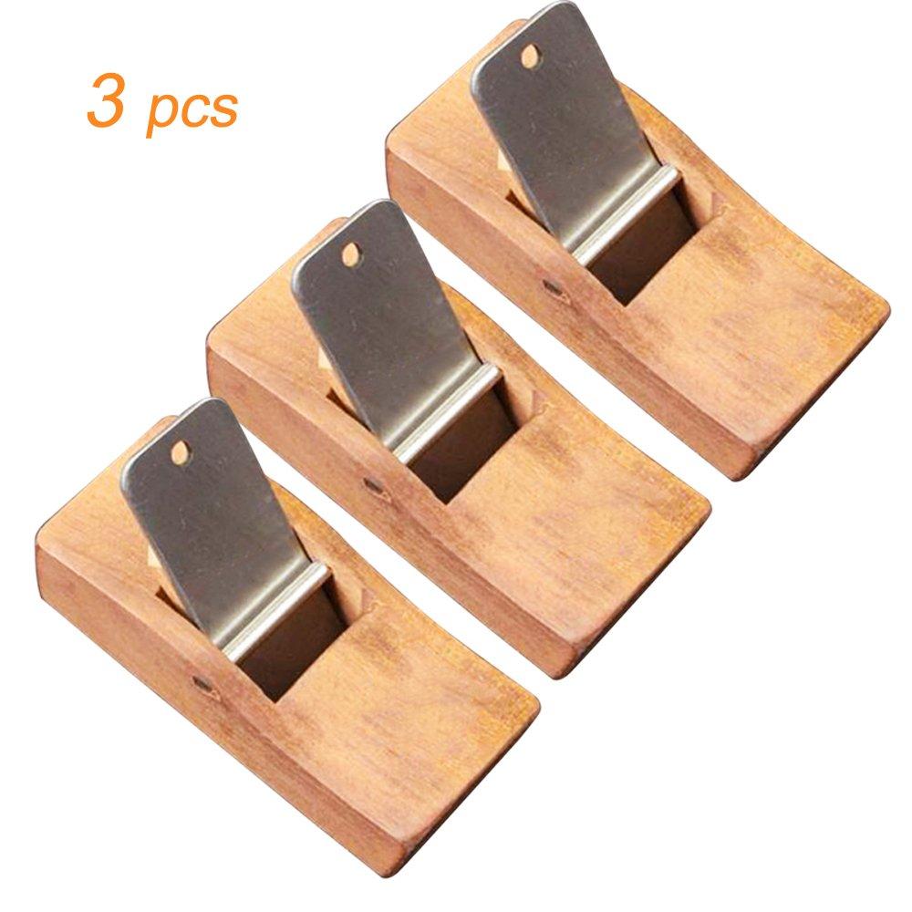 Zinnor 3 Pcs Woodworking Planing Wood Block Plane Carpenter's Tool Wood Hand Tools