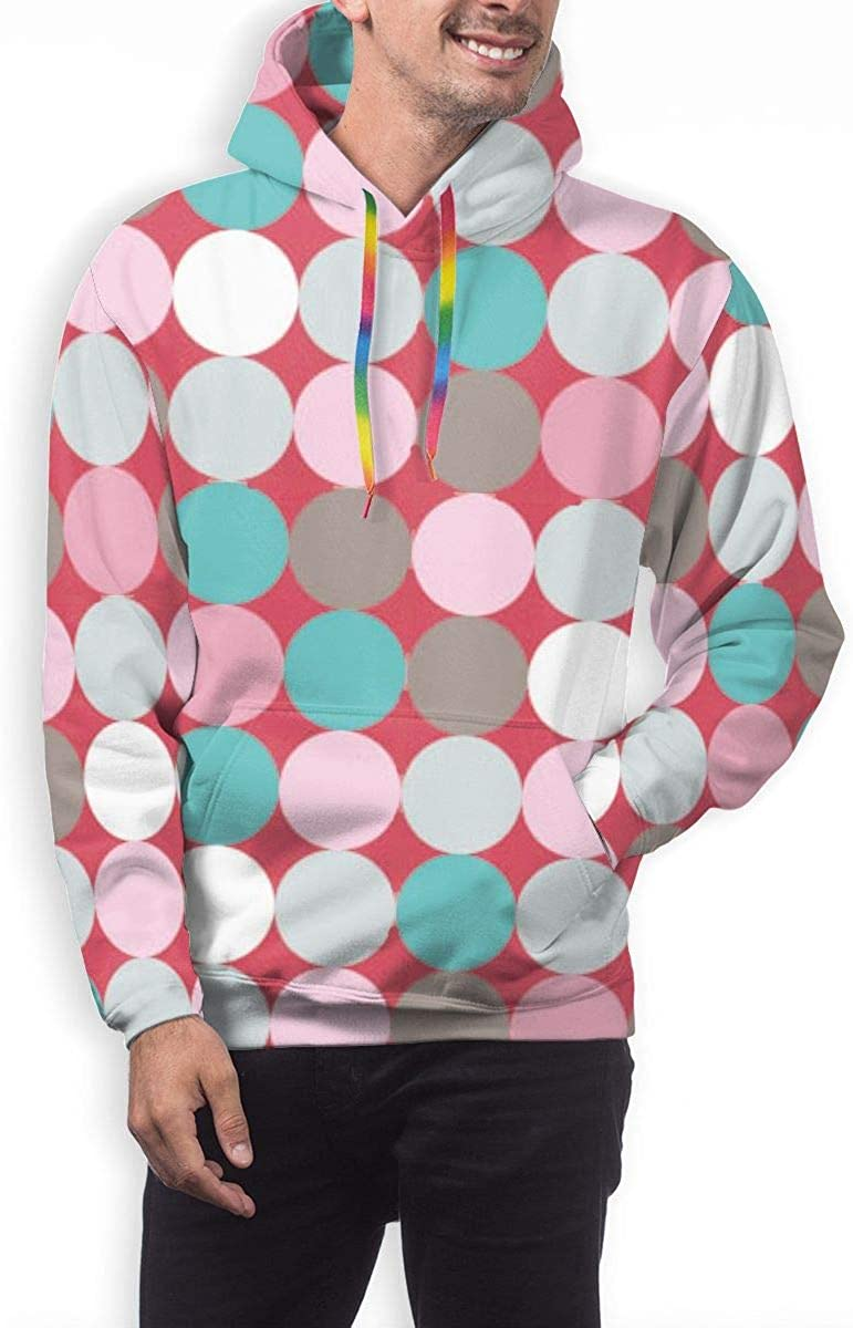 Geometric Dot Pullover Hooded Sweatshirts for Boys Mens Funny Cool Outwear