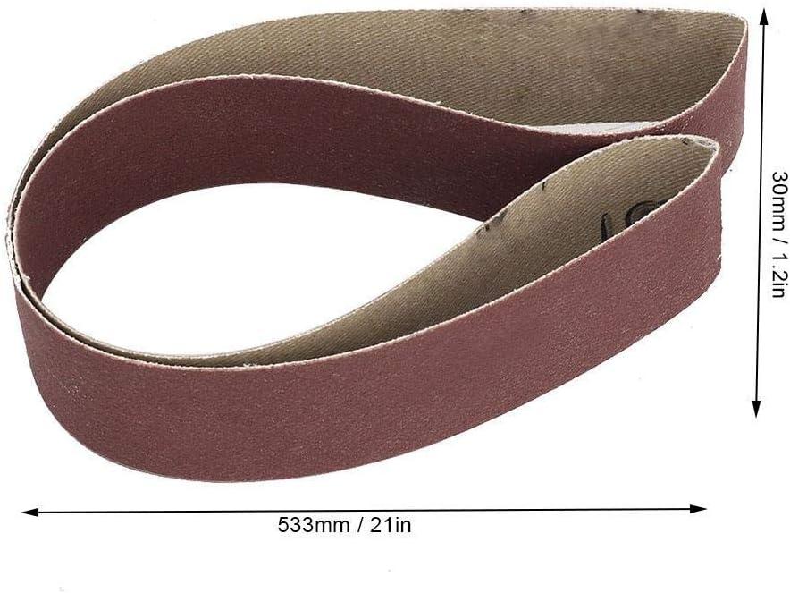 Correa de lijado de 10 piezas 1.2x2.1in 30x533 mm Tiras de lija de pulido Correa abrasiva para moler y desbarbar 1000#Grit