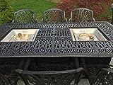 Cast Aluminum Patio Furniture Elisabeth 9 Piece Patio Dining Set Double Burner Propane Table Review