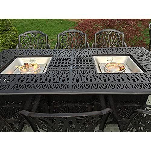 Outdoor Dining Table Set with Fire Pit: Amazon.com