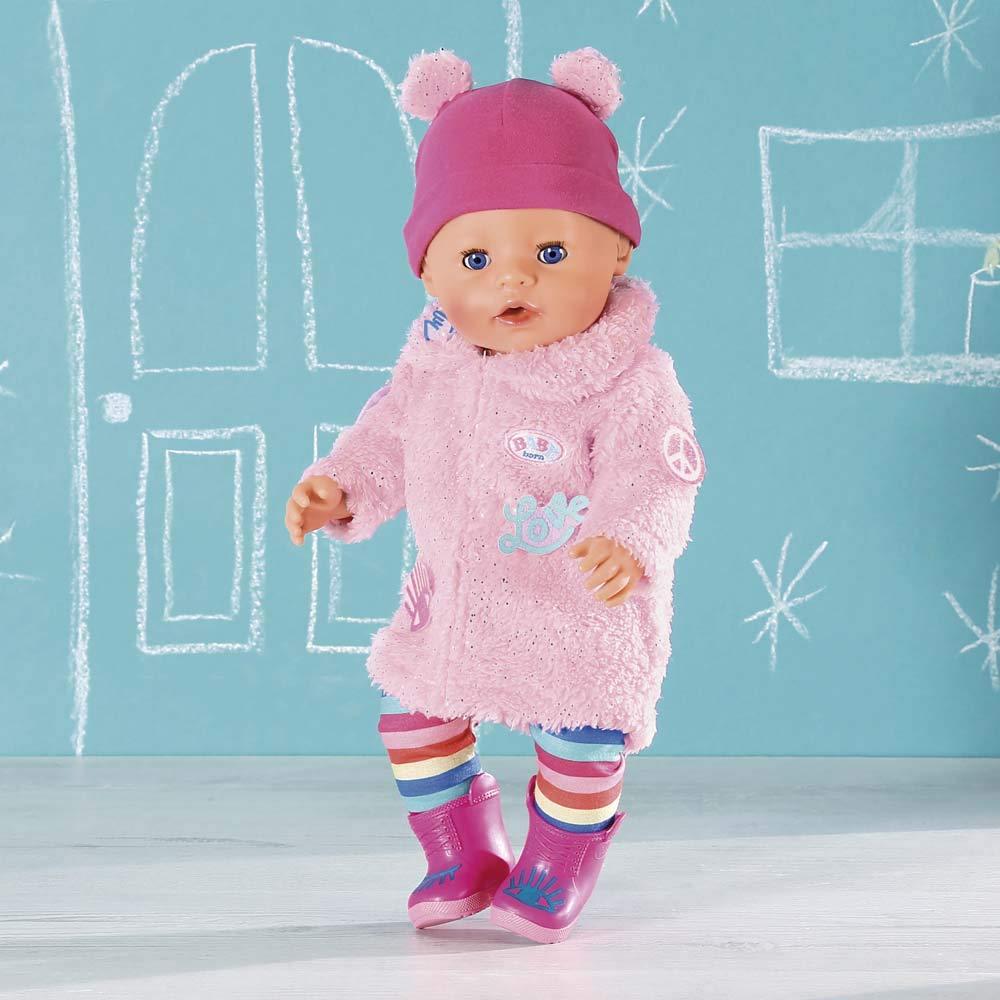 BABY Born 826959 Trend Glitzer Mantel 43 cm bunt