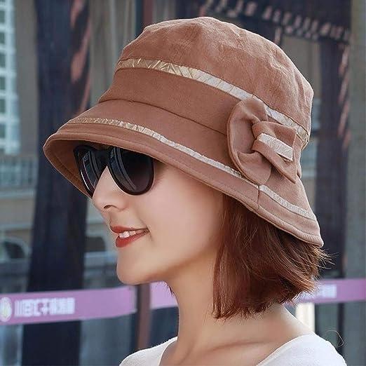 HKHJN HKHJN Sombrero femenino de otoño Bow Tie Becken gorro ...