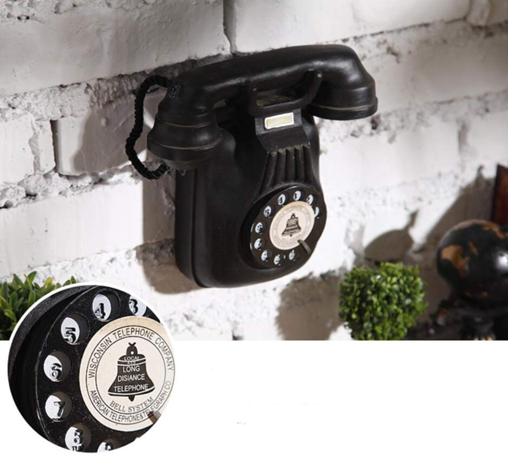 QQA Telephone Wall Hanging Ornaments American Style Retro Old Cafe Bar Shop Wall Decoration