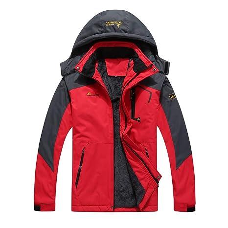 Explopur Hombres de gran tamaño de la chaqueta de esquí a ...