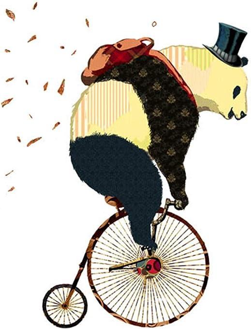 ZSHLYL Panda Montando Una Bicicleta Pintura Decorativa del Fondo ...