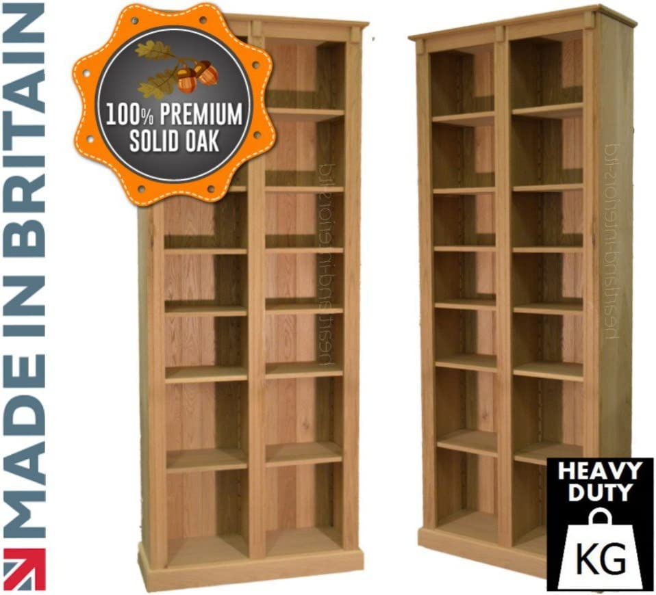Heartland Oak 100% Roble Macizo librería; 8 pies de Altura ...