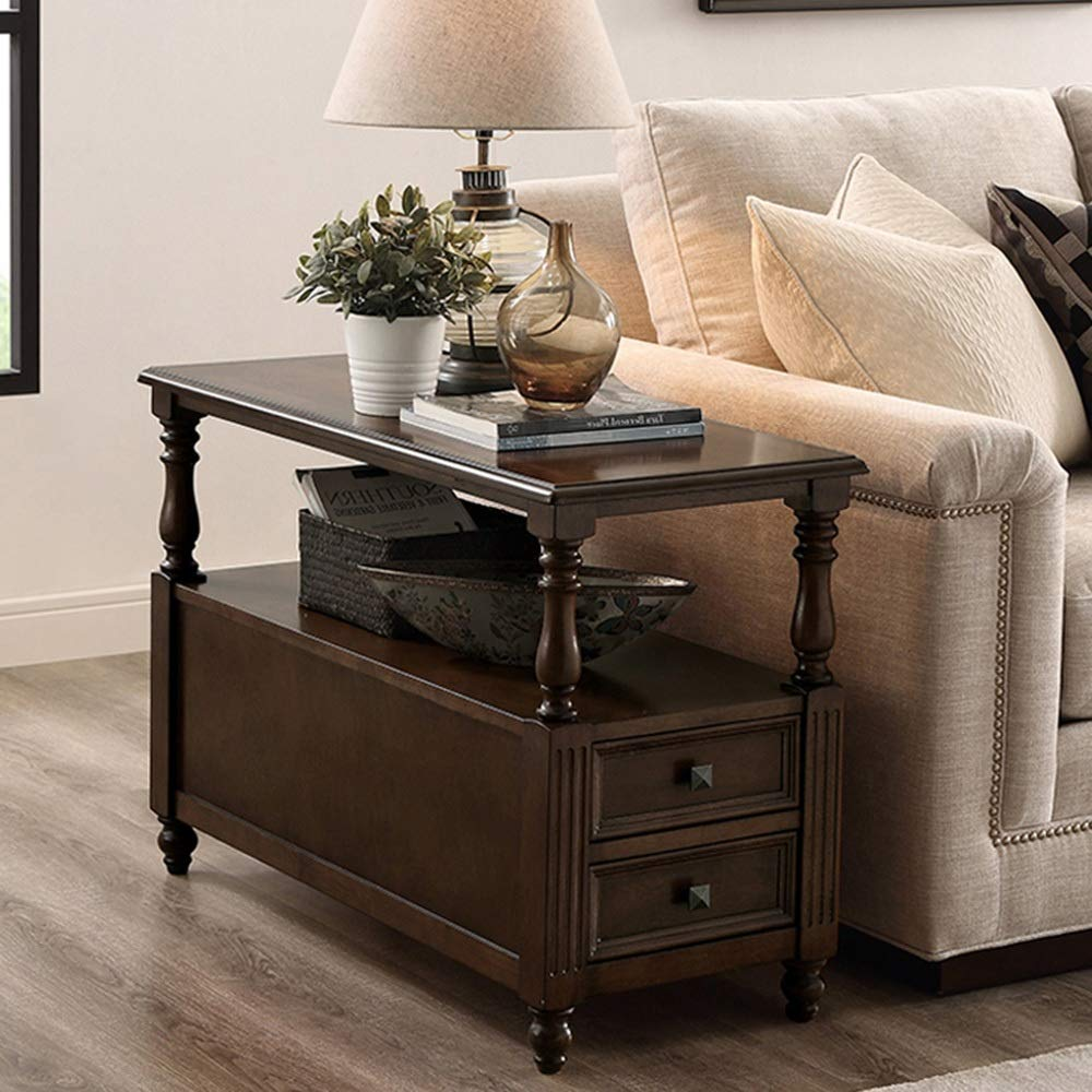 Amazon.com: Chunlan - Mueble auxiliar para sofá con cajones ...