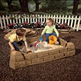 Kidz Rule Play Sand Box, You can enjoy the summer months with this incredible sandbox featuring a fun sun theme in a contemporary design that's perfect for any backyard. It blends easily with your landscaping theme, while providing hours of provide amusement to children. The sandbox provides enough room for multiple children to build sand castles at once and enjoy the outdoors. by FUNZ