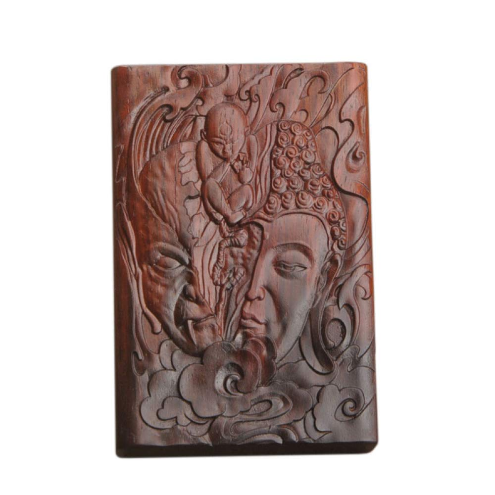 CTO Cigarette Box, Cigarette Case, Mahogany, Solid Wood Cigarette Case, Smoking Set, Creative, Pattern, Hand-Carved, Suitable for Rough Smoke, Men, Ladies, Gifts, Capacity 20,A,Box
