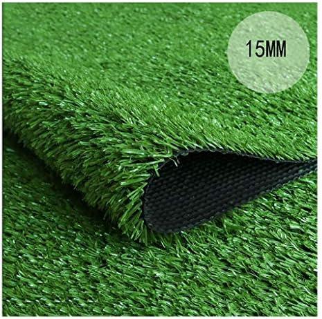 XEWNEG 15MMの緑の総合的な芝生のプラスチックシミュレーションのカーペットのマット、幼稚園/庭/フットボール競技場の装飾のために適した、防水および容易な切断 (Size : 2x1M)