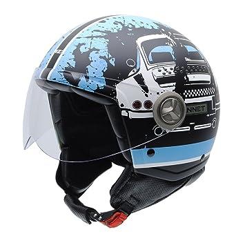 NZI 050322G849 Zeta Gannet Designs Roadracer, Casco de Moto, Talla 55-56 (