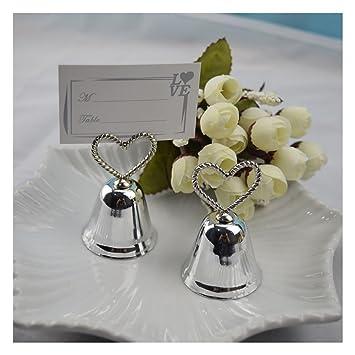 5 Stück Silber Bell Hochzeit Platz Kartenhalter Sitzclip