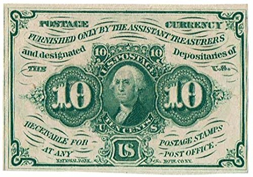 1862 Ten Cent United States Fractional Currency First (1862 First Issue)