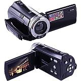 PowerLead Puto PLD003 DV C8 16MP High Definition Digital Video Camcorder Dv DVR 2.7'' TFT LCD 16x Zoom Hd Video Recorder Camera 1280 x 720p(Black)