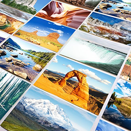 US National Parks postcards pack - Set of 25 individual postcards featuring America's national parks and natural landmarks