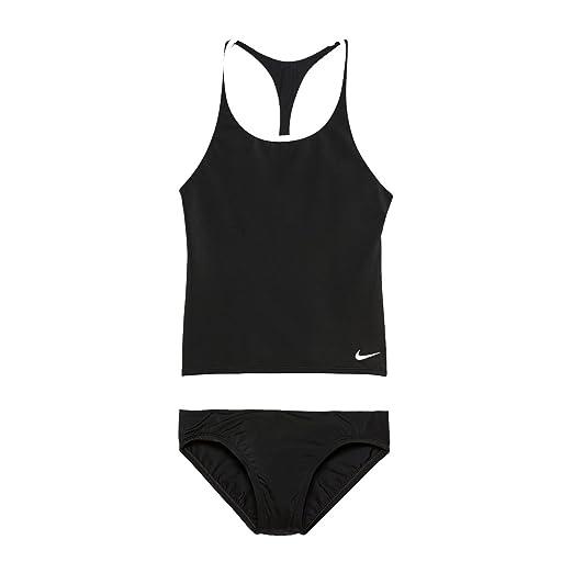 42ddcd307bfed Amazon.com: Nike NESS8601 Girls' Solid Racerback Sport Tankini Set ...