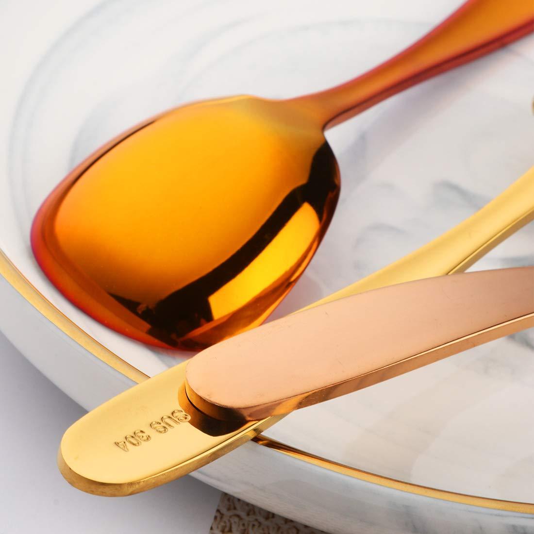 Coffee Spoons//Dessert Spoons Coloured Do Buy Teaspoons Set of 8 5.5inch//14cm