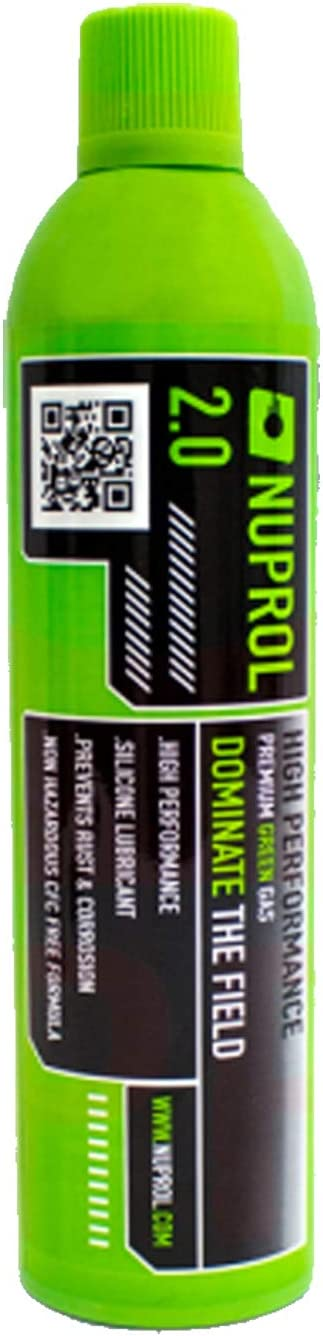 Nuprol Gas Airsoft Premium Green 2.0-300 gr. 600 ml.