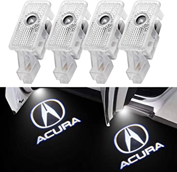 3D Ghost Shadow Light Wireless Welcome Courtesy Projector Light Fit for Acura RLX//ZDX//TLX//TL//MDX 4PCS For Acura Car Door LED Logo Lights
