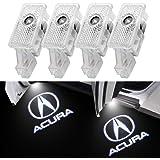 for Acura, 4 Pack Car Door Logo Lights Compatible with Acura MDX/Acura TLX/Acura TL/Acura RLX/Acura ZDX , Puddle Light Welcom
