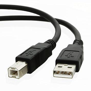 Hasmx Cable de impresora USB 2.0 tipo A macho a conector macho tipo B a B macho de alta velocidad de transferencia de velocidades de hasta 480 Mbps ...