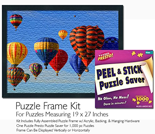 Jigsaw Puzzle Frame Kit - Made to Display Puzzles Measuring 19x27 Inches (Puzzle Mounting Jig Kit Saw)
