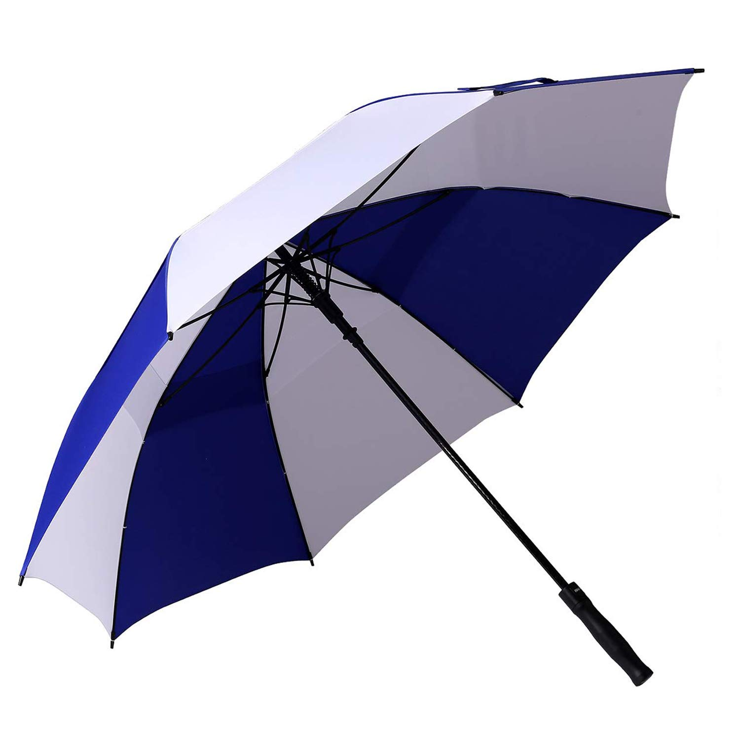 BAGAIL Golf Umbrella 68/62/58 Inch Large Oversize Double Canopy Vented Windproof Waterproof Automatic Open Stick Umbrellas for Men and Women (Blue White, 68 inch) by BAGAIL