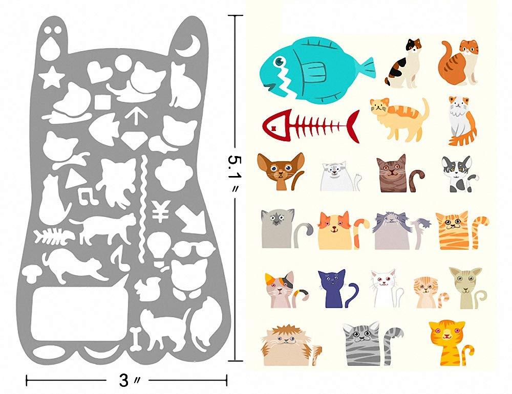 Amupper metal Cat templates–Stencil in acciaio INOX per Kitty Lover