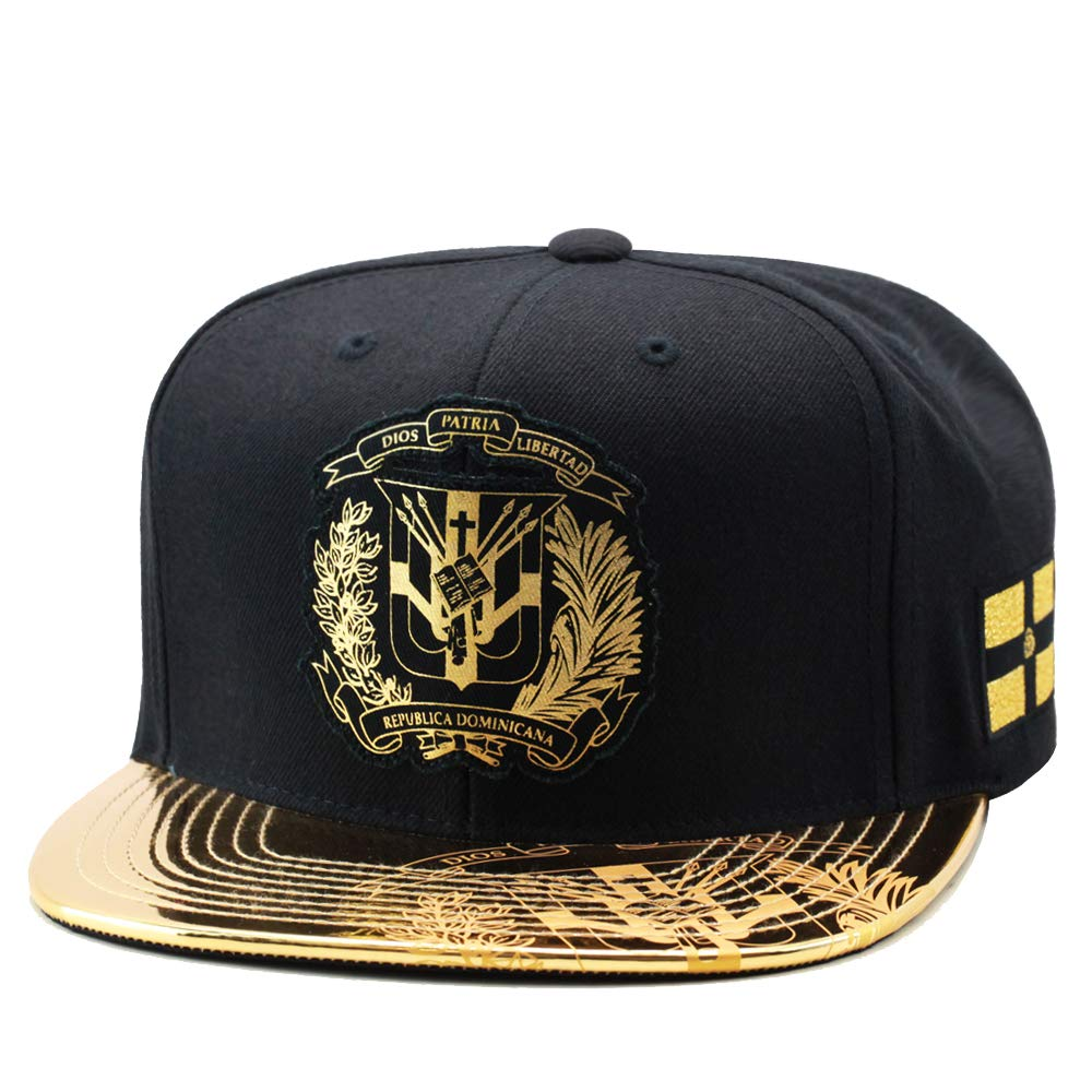Mitchell & Ness Dominican Republic DR Snapback Hat Cap Black/Gold Foil at Amazon Mens Clothing store: