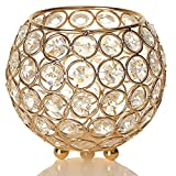 Sparkle and shine with our little jewel of a tealight holder handcrafted of glittering glass crystal and Gold woven wire. Create a different ambience by switching between wax and LED tealights candle. Buy several, scatter them across a table ...