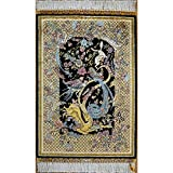 YLL 2'x3' Small Area Rug Carpet Tapestry Vintage Handmade Oriental Silk Rug for Bedroom New